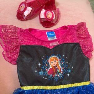 Disney Princess Anna dress and matching shoes